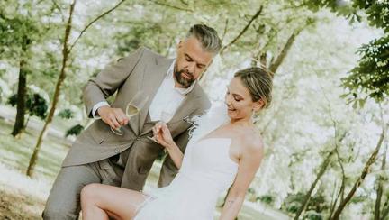Roxana Ionescu și Tinu Vidaicu s-au căsătorit religios. Cine au fost marii absenți de la eveniment
