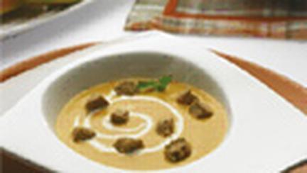 Supa de dovleac cu tofu