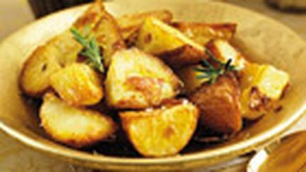 Cartofi rumeniti la cuptor