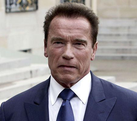 President Hollande Receives Arnold Schwarzenegger - Paris