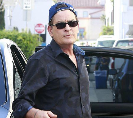 Charlie Sheen Lunches In Beverly Hills