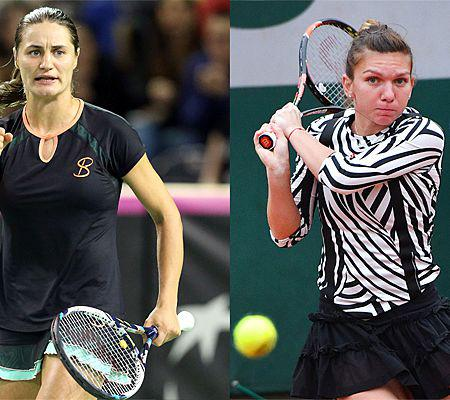 2016 French Open fourth round match - Simona Halep vs Samantha Stosur