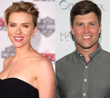 Scarlett Johansson și Colin Jost