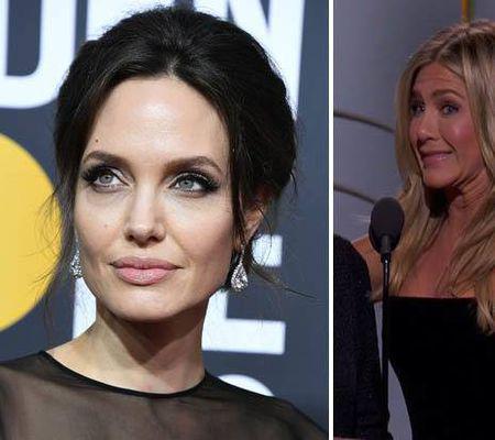 Angelina Jolie si Jennifer Aniston la Globurile de aur 2018