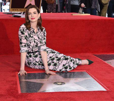 Anne Hathaway Hollywood Walk of Fame Ceremony
