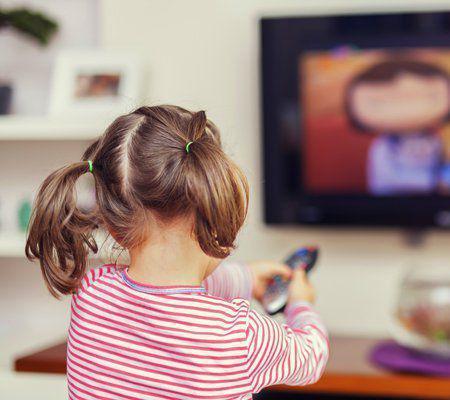 watching tv child