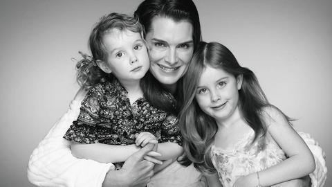 Brooke Shields și fiicele ei