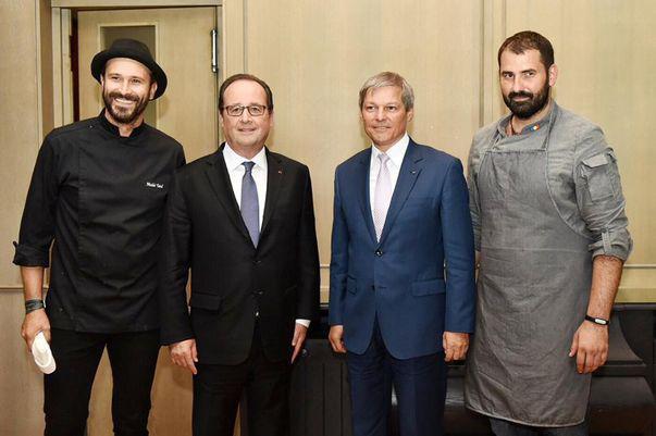 Nicolai Tand și Adi Hădean au gătit pentru președintele Franței