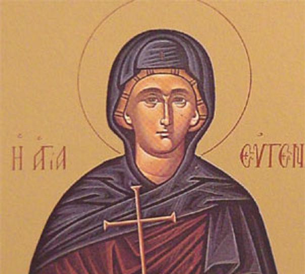 icoană cu Sfânta Eugenia