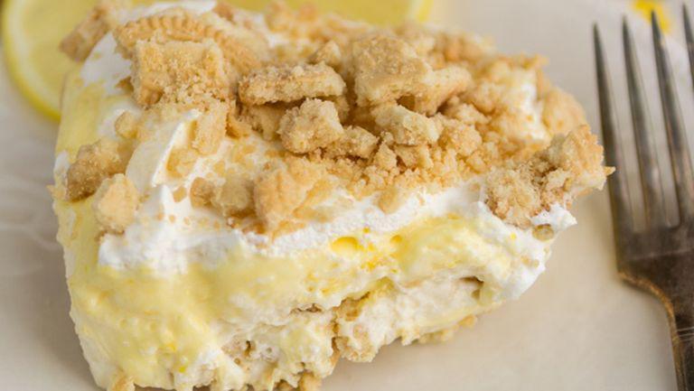 Prăjitură cu lămâie, fără coacere