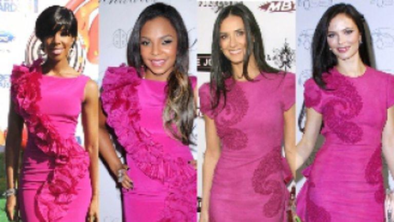 4 vedete, rochii identice Marchesa. Care e mai sexy?