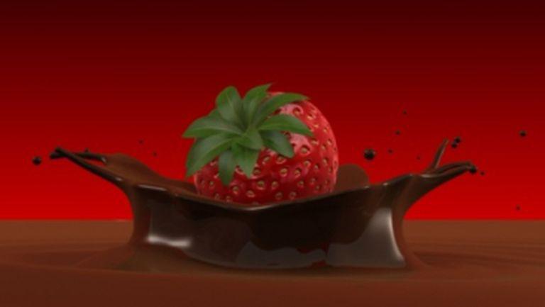 Desert: Brioşe din ciocolatã cu buburuze