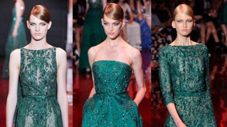 Rochii de ocazie Ellie Saab la Paris Fashion Week
