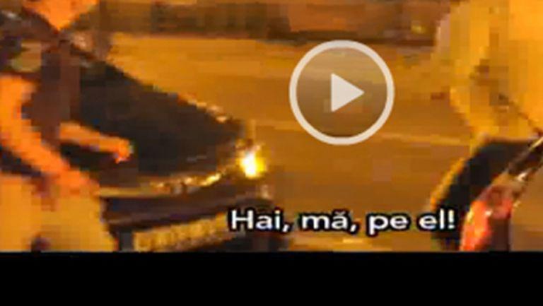 Scene halucinante, noaptea trecută, în Bucureşti! A sărit la bătaie cu trei persoane și a ieșit terfelit – Video