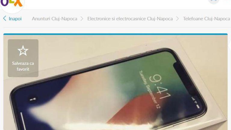 Un român a scos la vânzare o cutie de iPhone X. Suma cerută pe ea