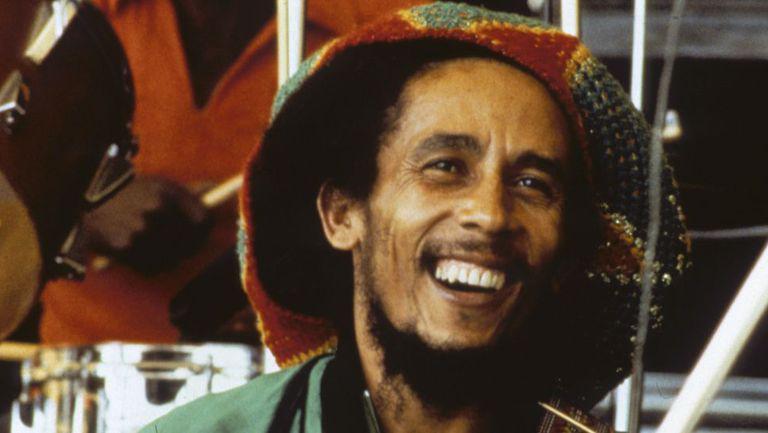 Bob Marley, in anul 1980, zâmbind