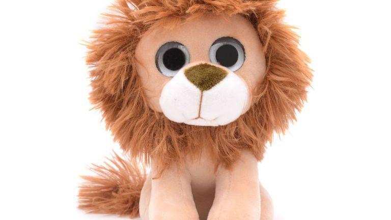 Leu de pluș cu ochii mari