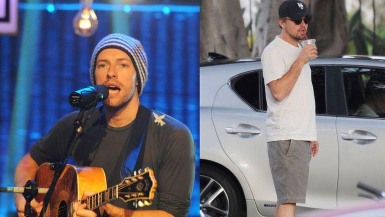 Chris Martin și Leonardi DiCaprio