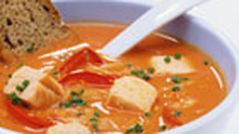 Supa de varza cu boia si somon