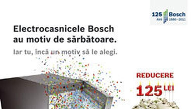 Bosch ofera o reducere aniversara de 125 de lei