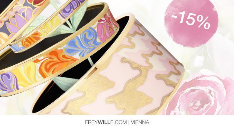(P) FREYWILLE întâmpină noul sezon printr-o selecție de bijuterii în culorile primăverii, disponibile acum cu -15% discount!