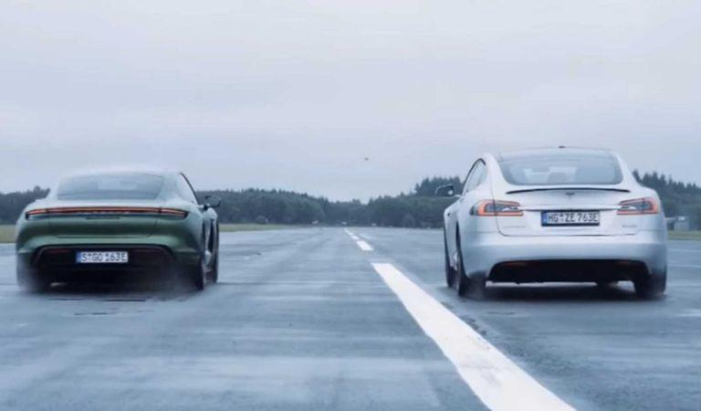 Un duel mult așteptat: Porsche Taycan Turbo S vs Tesla Model S P100D (VIDEO)