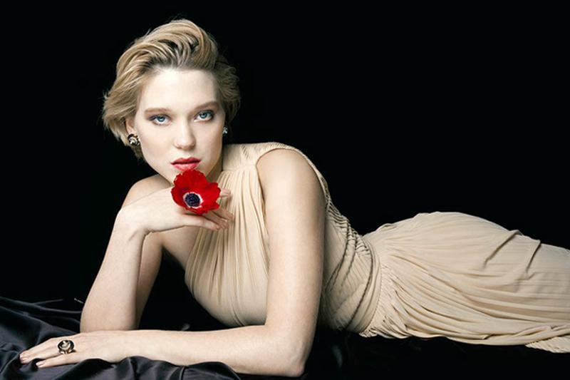 French actress Lea Seydoux is the face for the new campaign of Didier Dubot