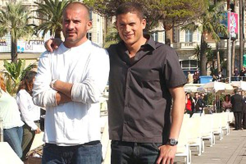 'Prison Break' cast members, Wentworth Miller and Dominic Purcell pose for a photocall at MIPCOM 2006 in Cannes, France, on October 09, 2006. Photo by Giancarlo Gorassini/ABACAPRESS.COM