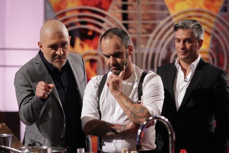 Chef Răzvan Exarhu, Chef Samuel Le Torriellec și Liviu Popescu
