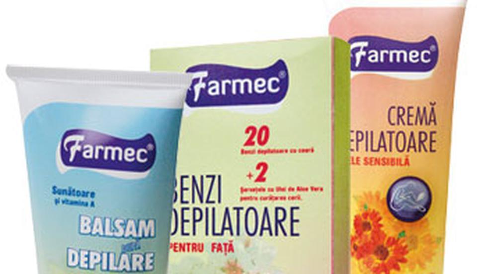 Produse de la Farmec pentru depilare