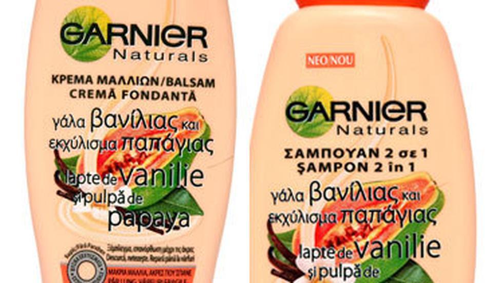 Garnier Naturals cu lapte de vanilie si pulpa de papaya