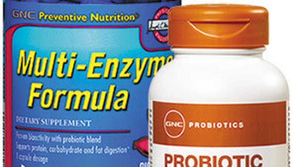Multi-Enzyme Formula si Probiotic Complex, de la GNC