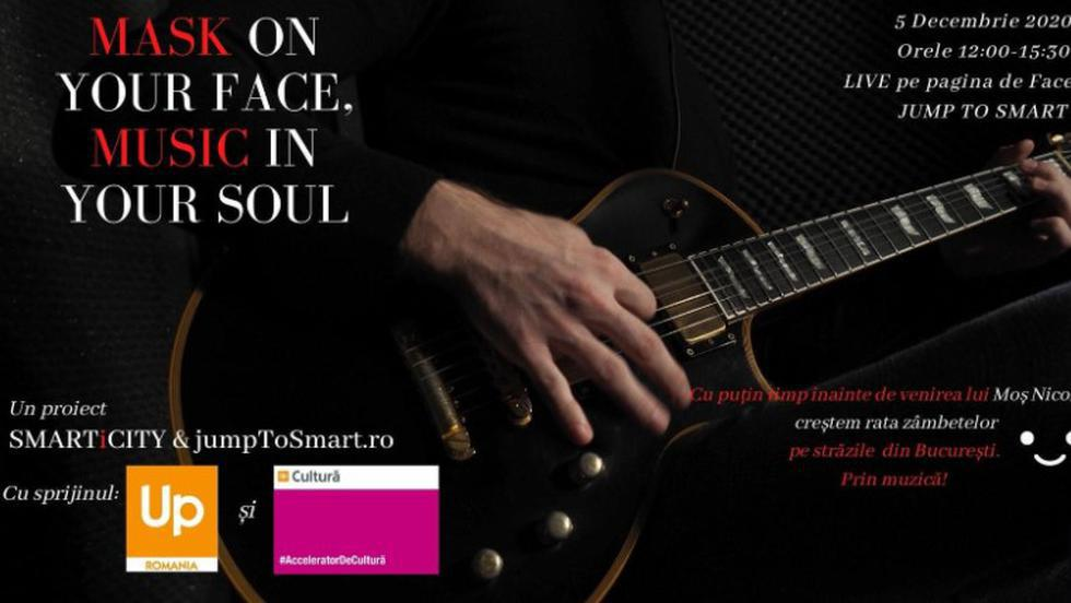"INVITAȚIE: ""Mask on your face; Music in your soul""- muzică în stradă, pe 5 decembrie (P)"