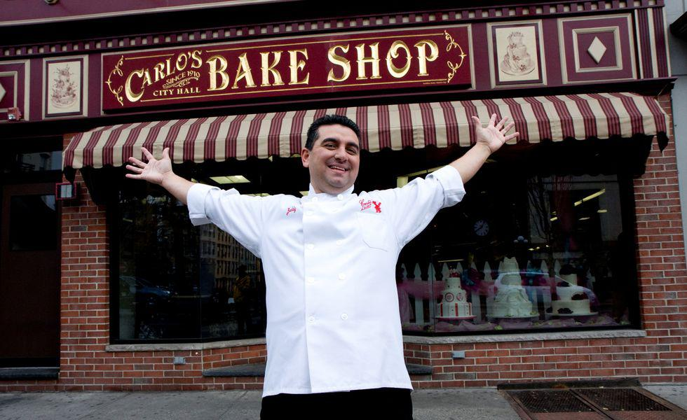 Buddy Valastro in front of his family owned bakery Carlo