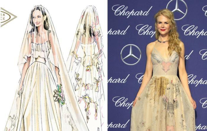 Angelina Jolie vs Nicole Kidman - Cine poartă mai bine o rochie cu imprimeuri ludice
