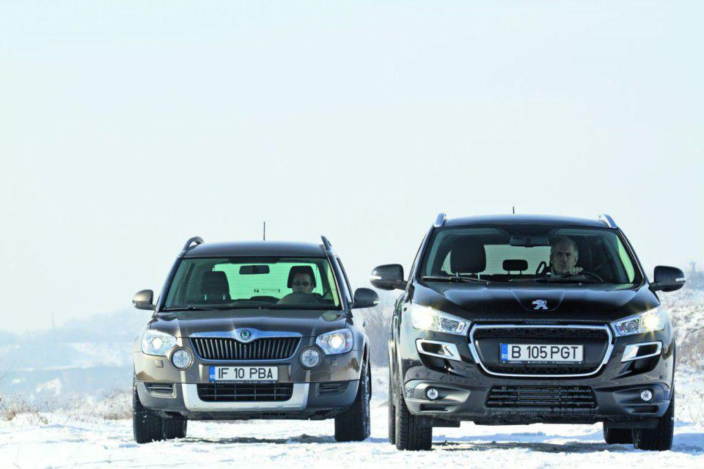 Test comparativ: Skoda Yeti vs Peugeot 4008