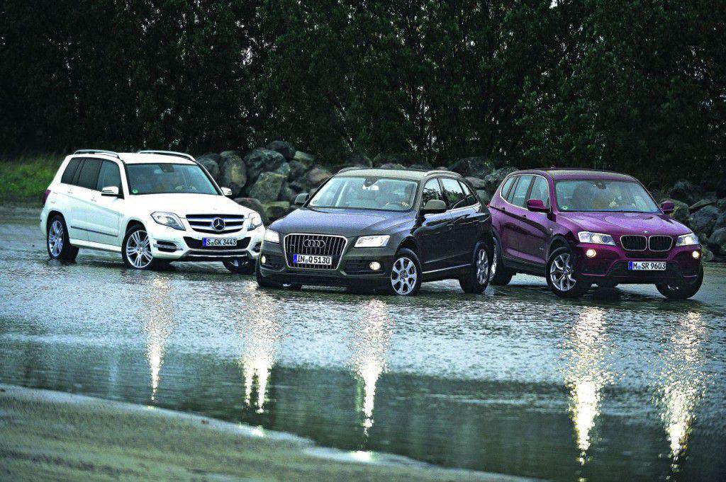 Test comparativ Audi Q5, BMW X3, Mercedes GLK