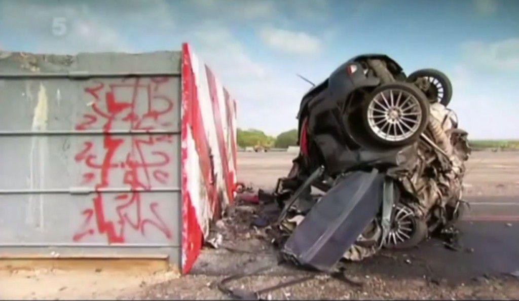 Ce se intampla intr-un accident la 190 km/h? Imagini socante