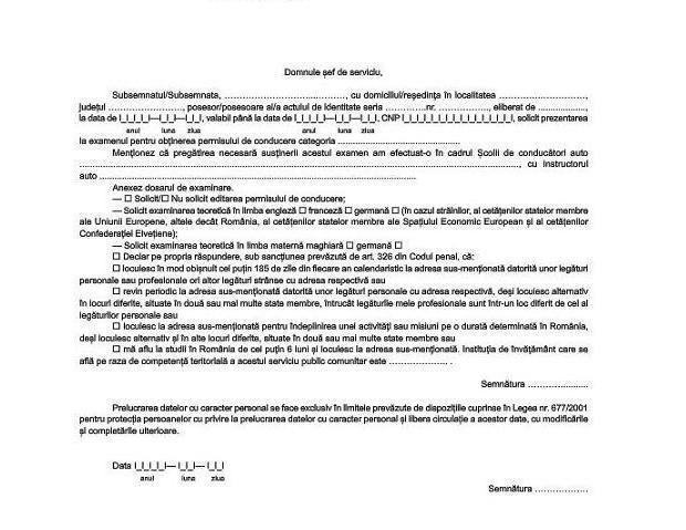 Candidatii pentru obtinerea permisului auto trebuie sa ataseze un nou document la dosarul de examinare