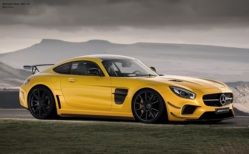 Mercedes-AMG GT imaginat in haine Black Series