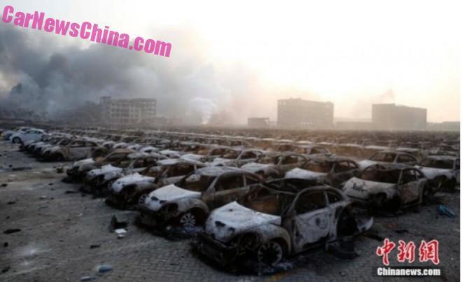 Explozia din Tianjin face ravagii și în rândul vehiculelor noi – Update
