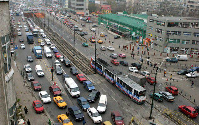Circulație blocată în București din cauza protestului transportatorilor