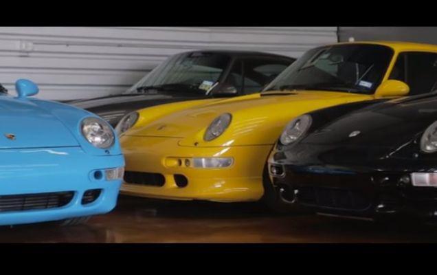 Un american are toate culorile de Porsche 911 | VIDEO