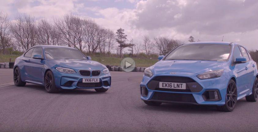 BMW M2 Coupe față în față cu Ford Focus RS