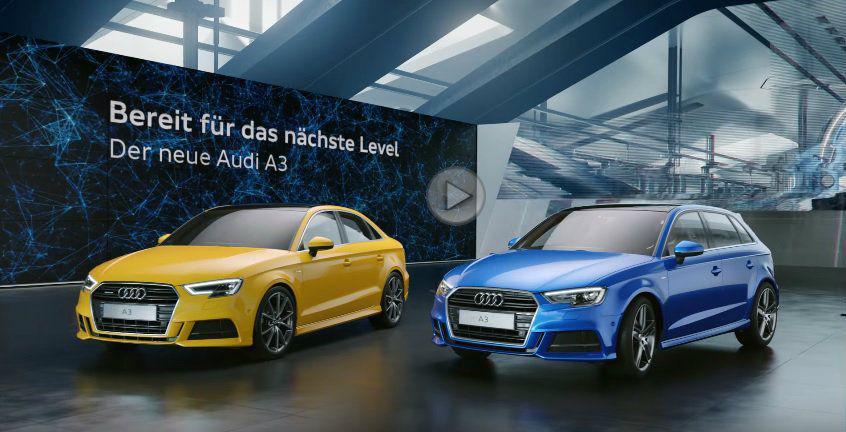 Primul spot cu Audi A3 facelift