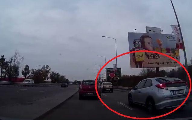 Trei manevre periculoase în 20 de secunde! Oare această șoferiță are permis?   VIDEO