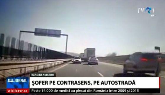 Un șofer din Botoșani a fost filmat în timp ce mergea pe contrasens pe… autostradă   VIDEO