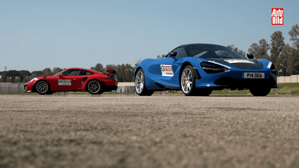 VIDEO: Duel între intergalactici – Porsche 911 GT2 RS vs. McLaren 720S