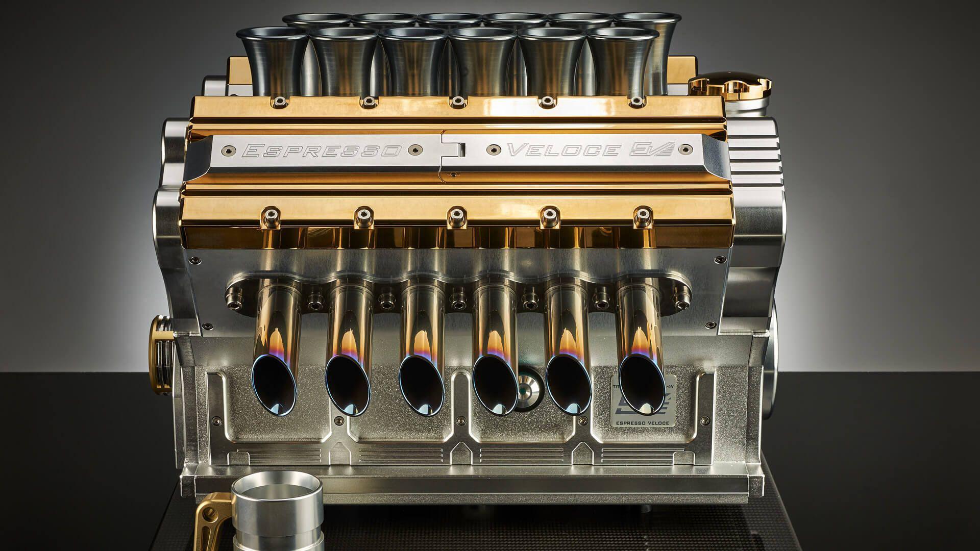 Scump cât patru Loganuri: espressor inspirat de motoare ale unor modele celebre