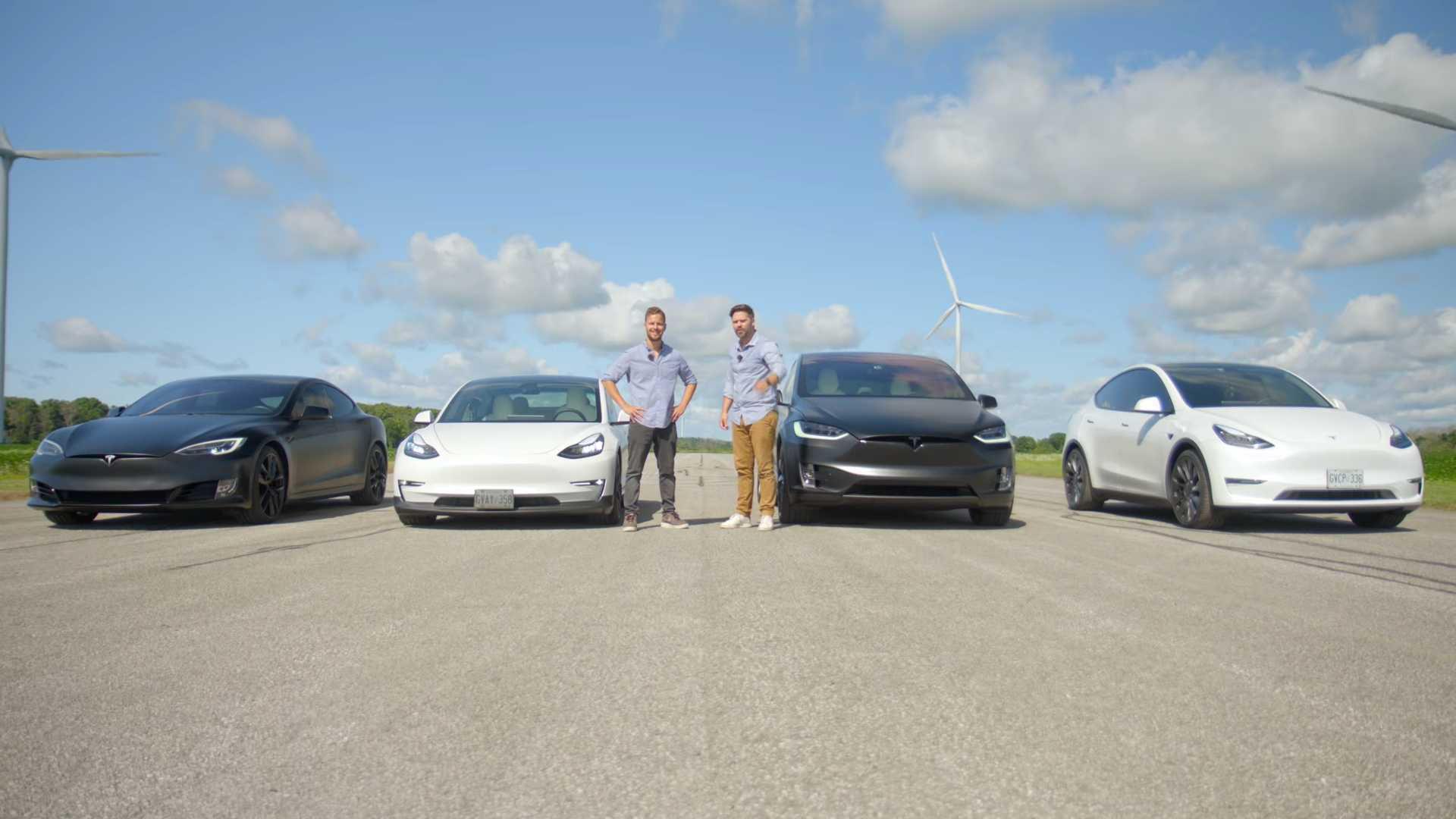 Drag race: care este cel mai rapid model Tesla în acest moment (VIDEO)